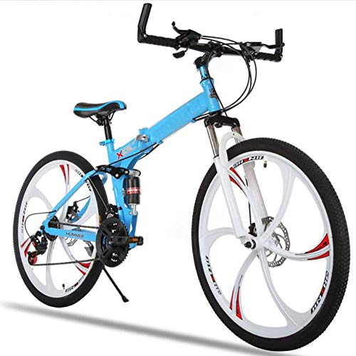 Best Bargain GBX Bike,Scooter,26 inch Folding Mountain Bike High Carbon Steel Double Disc Brake Adul...