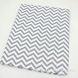Una pieza 50cm * 160cm algodón tejido Zig Zag impreso Tissus para costura y QUILTING Patchwork
