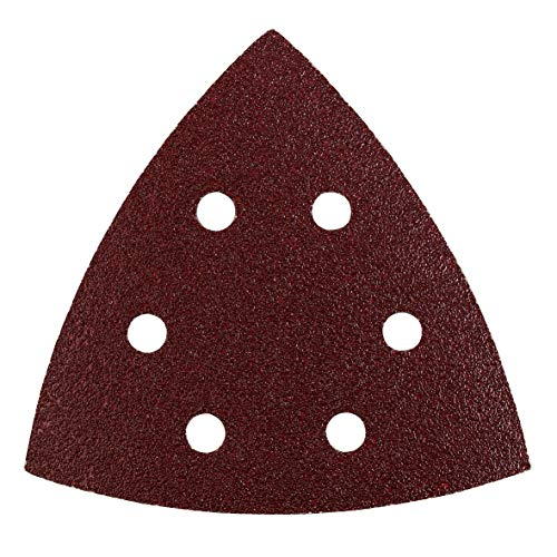 kwb Schleif-Dreieck für Delta- u. Multi-Schleifer - für Metall, Holz, Lack u. v. m., 105 mm für AEG u. Kress-Maschinen, Korn K-60, 5 Stk., gelocht