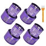 LINGSFIRE Filtro de Repuesto para Aspiradora Lavable Filtro para Aspiradora Dyson V10 Cyclone Serie V10 Absolute V10 Animal V10 Total Clean SV12 Reemplaza Las Piezas 969082-01