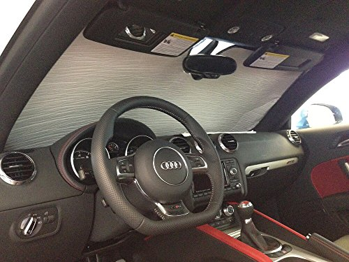 HeatShield, The Original Windshield Sun Shade, Custom-Fit for Audi TT Quattro Coupe 2007-2015, Silver Series