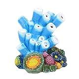 AAGOOD Ornamento del Acuario Decoraciones de Coral - Coral Burbuja de Aire nacarados Artes de la Resina cáscaras de la Bomba de oxígeno para Peces de Acuario Tanque de la decoración