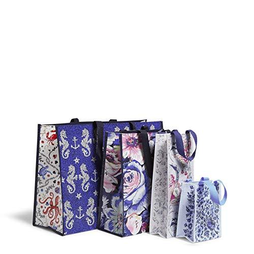Vera Bradley 4 Piece Market Tote Bag Set, Seahorse of Course