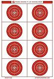 Dynamic Shooters – 50-Sheet 17X25-inch Made in USA Large Bullseye Paper Targets for Gun Range and Outdoor - Firearm, Rifle, Gun, Pistol, BB Guns, Airsoft, Pellet Gun, Air Rifle, Archery Training