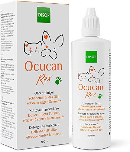 Ocucan Rex Limpiador de Oídos para Perros y Gatos, Limpiador Ótico y Auricular - 100 ml