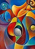 Pintura de diamantes 5D, pintura abstracta cuadros diamantes DIY pintura por numeros kit de punto de cruz, suministros de arte y manualidades, lienzo adhesivo de pared, 30 x 40 cm