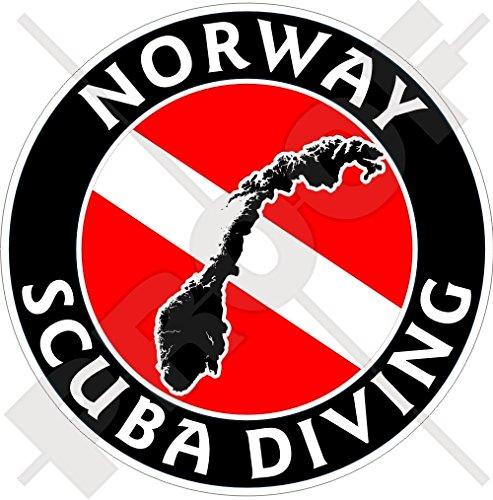 NOORWEGEN SCUBA Duiken Vlag-Noorse Kaart Vorm 100mm (4