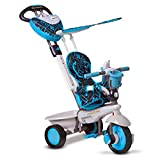smarTrike 4 in 1 Dream Baby Tricycle for 1 Year Old, Blue