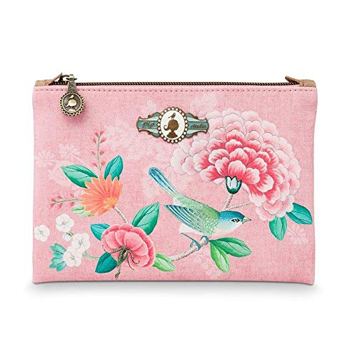 PiP Studio Cosmetic Flat Pouch Small Floral Pink 19,5x13 cm
