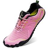 L-RUN Womens Water Shoes for Beach Diving Surfing Fishing Pink Women_8, Men_6.5...