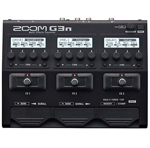 Zoom G3n - Aparato de efectos múltiple con ordenador y looper y cable de guitarra keepdrum de 3 m