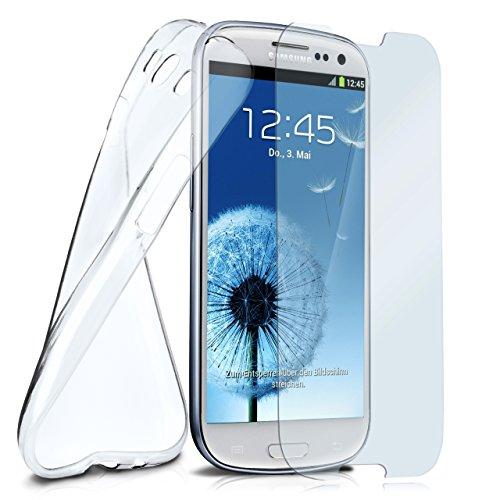 MoEx® Silikon-Hülle für Samsung Galaxy S3 / S3 Neo | + Panzerglas Set [360 Grad] Glas Schutz-Folie mit Back-Cover Transparent Handy-Hülle Galaxy S 3 / S3Neo Case Slim Schutzhülle Panzerfolie