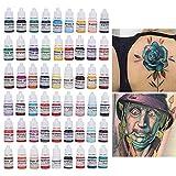 Juego De Tintas Para Tatuajes, 54 Colores Pigmento Permanente...