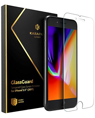 Anker KARAPAX GlassGuard iPhone 8 Plus / 7 Plus 用 強化ガラス液晶保護フィルム【3D Touch対応 / 硬度9H...