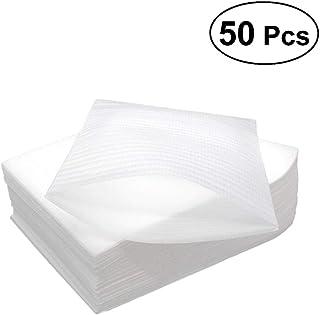 SUPVOX Foam Cushioning Wrap 30x40cm Schaum Wraps Cup Pouches zum Schutz von Flaschen Geschirr Gläser Porzellan Fragile Items Verpackung Zubehör für den Umzug 50PCS