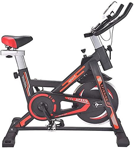 RTRD Bicicleta de Ciclismo Interior, tracción en el cinturón en la Bicicleta de Ejercicio Interior de la Bicicleta, Bicicleta estacionaria con Pantalla LCD para el hogar Cardio
