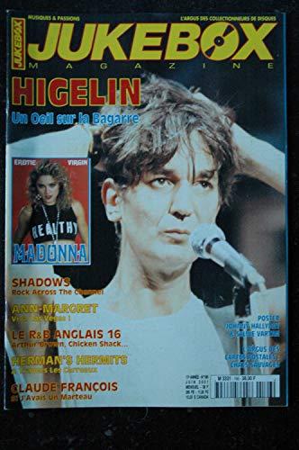 JUKEBOX 166 JUIN 2001 JACQUES HIGELIN MADONNA EROTIC VIRGIN SHADOWS CLAUDE FRANCOIS HERMAN\'S HERMITS