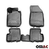 OMAC - Tappetini in gomma 3D per tutte le stagioni, nero, 4 pezzi