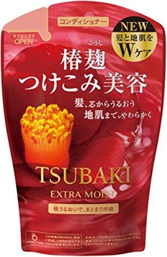 Shiseido Tsubaki Extra Moist Conditioner 380ml - Refill (Green Tea Set)