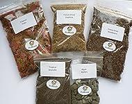 PROREZULT Tropical Fish Food 5 Packs, Flake, Granules/Pellets, Freeze Dried Bloodworm, Algae Wafers,...