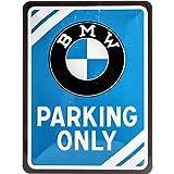 Nostalgic-Art 26177 BMW Parking Only – Idea de Regalo para los Fans de los Accesorios de Coches, Diseño Vintage, 15 x 20 cm