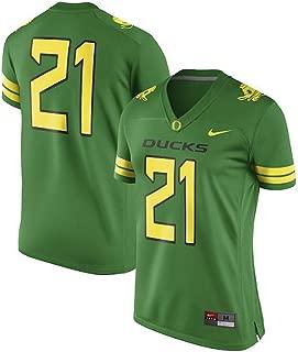 Nike #21 Oregon Ducks Women's Game Apple Green Football Jersey (X-Large)