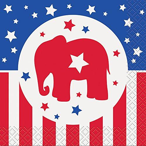 Republican Party Election Cocktail Napkins, 16ct