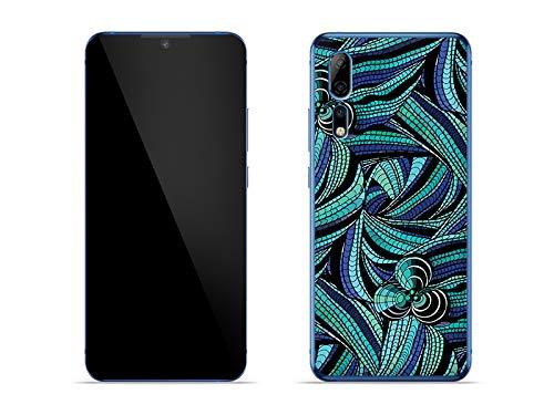 etuo Hülle für ZTE Axon 10 Pro 5G - Hülle Fantastic Hülle - Blumenmosaik Handyhülle Schutzhülle Etui Hülle Cover Tasche für Handy