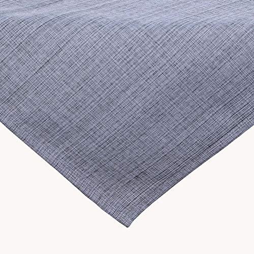 Kamaca Nappe d'extérieur pour table de jardin - La couverture textile parfaite pour l'intérieur et l'extérieur - Résistante aux taches et aux intempéries - Infroissable (gris - chiné, 90 x 90 cm)