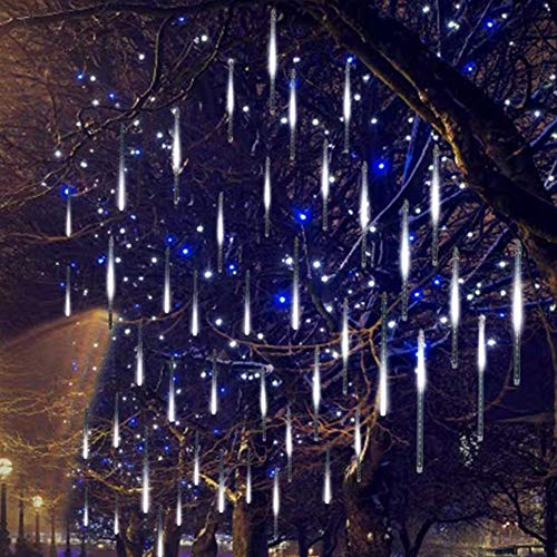 Twinkle Star Meteor Shower Rain Lights, Valentine Lights 30cm 8 Tubes 288 LED Icicle Snow Falling Christmas Lights...