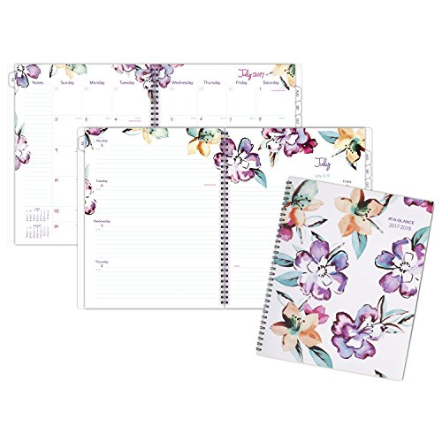 "AT-A-GLANCE Academic Weekly / Monthly Planner, July 2017 - June 2018, 8-1/2"" x 11"", June Design (1012-905A) Photo #10"