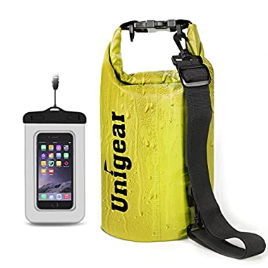 Unigear Dry Bag Sack, Waterproof Floating Dry Gear Bags for Boating, Kayaking, Fishing, Rafting, Swimming, Camping and Snowboarding (Yellow, 20L)
