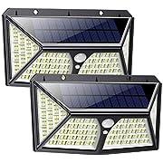 Solar Lights Outdoor 254 LED,【Automatic Illumination】Feob Solar Motion Sensor Security Lights [2500LM-2500mAh] - 3 Optional Modes, IP65 Waterproof Solar Lamp Solar Powered Wall Light (2 Pack)