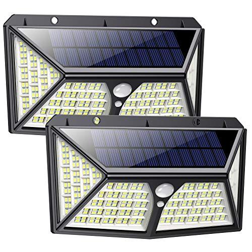 Feob Luz Solar Exterior 254 LED【Calidad Precio 2500mAH Placa Solar】Foco solar con PIR Sensor de...