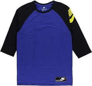 Men's Sportswear Heavyweight 3/4 Sleeve Shirt Purple
