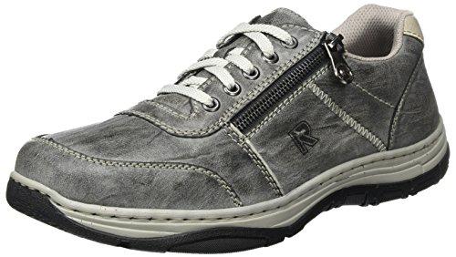 Rieker Herren 16300 Sneaker, Grau (Graphit/Ice), 47 EU