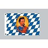 Flagge 90 x 150 : Bayern mit König Ludwig - Fotosonderdruck