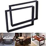 FUBIRUO Industrial Modern Table Legs Metal Cast Iron Table Legs Coffee Table Legs Kitchen Dining Table Legs for Extra Big Size Table Black Square Table Legs Height 28.3 Inch (28.3''H x35.4''W) 2 PCS