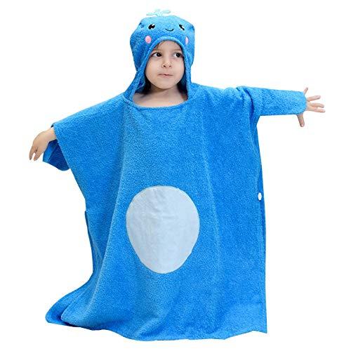 KAYBELE Toalla de baño Niños con Capucha Toallas con Capucha Toallas de algodón Niño Towel Boys Girls Ducha Piscina Piscina Albornoz Suave Fuzzy Coverup, 2-6 años Softlths (Color : Blue Whale)