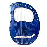 Cakunmik Pequeño Arpa de Caoba de 19 Cuerdas Pequeño Arpa Portátil Portátil Exquisito de Madera Maciza Harp Decoración para el hogar Adecuado para la música Principiantes