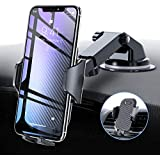 VICSEED Car Phone Holder, Upgrade Car Mount Phone Holder for Car Windscreen Car Dashboard Phone Holder Car Cradle Car Vent Mount Compatible with iPhone 11 XS XR X 8 7 Galaxy S10+ S10e S9 All Phones