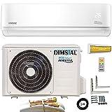 16000 BTU / 4,6kW Quick-Connect INVERTER Split Klimaanlage mit Wärmepumpe...