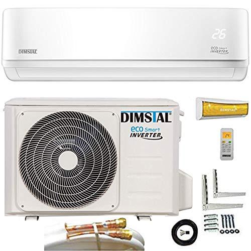 16000 BTU / 4,6kW Quick-Connect INVERTER Split Klimaanlage mit Wärmepumpe Klimagerät ECO Smart WiFi/WLAN-Ready komplett Set inkl. 5m Kupferleitungen mit Heizfunktion