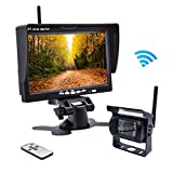 Wireless Backup Camera,Rear View Camera and Monitor Kit Waterproof Parking Assistance System for Car/Truck /Mini Van/Caravan / Trailers/Camper with 7' HD LCD Night Vision RC 12V-24V Accfly (L)