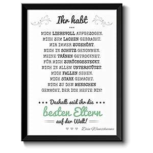 Beste Eltern Bild optional mit Holz-Rahmen und Namen personalisiert Geschenk Geschenkidee Muttertagsgeschenk Vatertag…