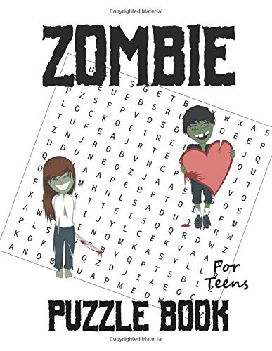 Zombie Puzzle Book: For Teens, Word Search, Word Match, Scramble, Cryptogram, & Sudoku Puzzles