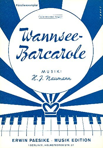 Wannsee-Barcarole: für Klavier