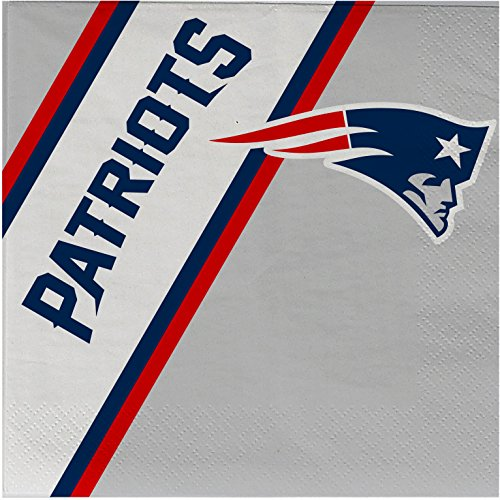 NFL New England Patriots Disposable Paper Napkins, Pack of 20