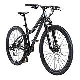 BIKESTAR Bicicleta de montaña Hardtail de Aluminio, 21 Marchas Shimano 29' Pulgadas | Mountainbike con Frenos de Disco Cuadro 18' MTB | Negro Gris