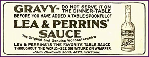 Very Early LEA & PERRIN'S Worcestershire Sauce AD 1899 Original Paper Ephemera Authentic Vintage Print Magazine Ad/Article